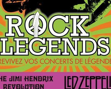 Rock Legends revient en tournée à l'Olympia avec Jimi Hendrix et Led Zeppelin !